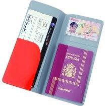 Portadocumentos de plástico para viajes personalizado rojo