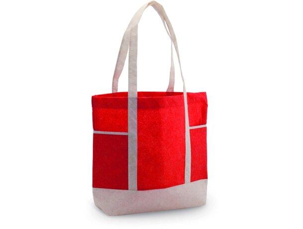 Bolsa con detalles y asas de color blanca personalizada