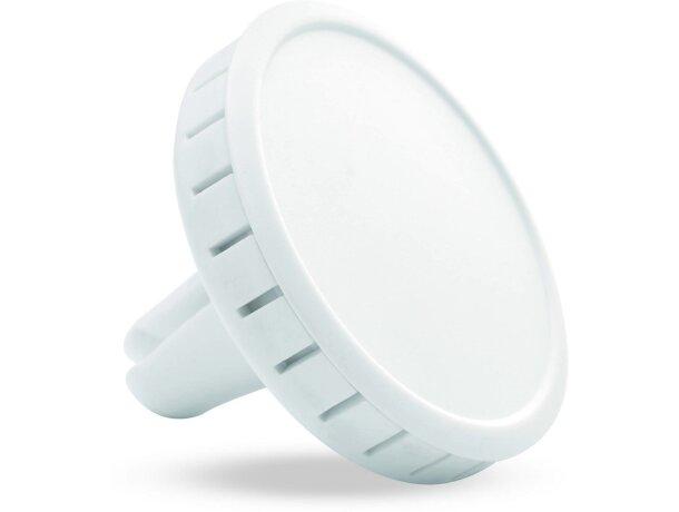 Ambientador de plástico para salpicadero blanco