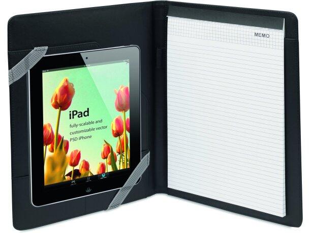 Carpeta para tablet con bloc en polipiel personalizada