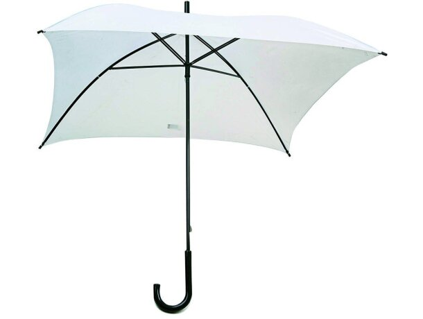 Paraguas formato cuadrado de 72 cm de lado personalizado blanco
