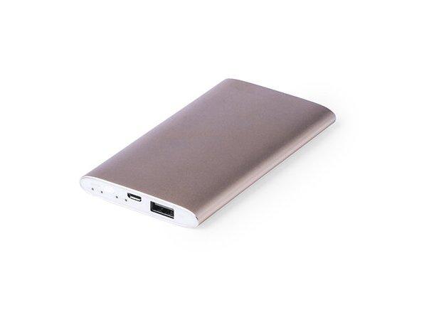 Powerbank resistente en aluminio con 5000 mah con logo