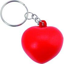 Llavero antiestrés con forma de corazón