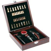 Set de vino con 4 accesorios y juego personalizado