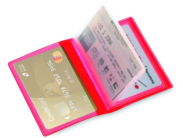 Tarjetero de plástico para 6 tarjetas personalizado