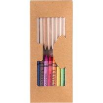 Set de 19 piezas de lápices y ceras personalizada