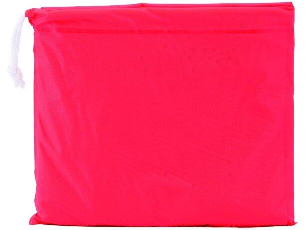 Poncho infantil con funda rojo