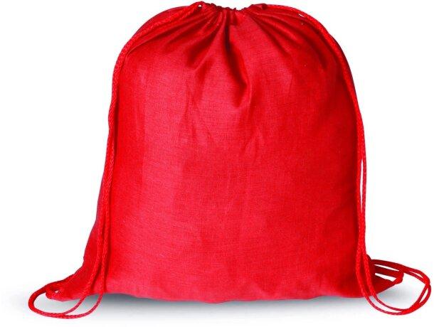 Mochila saco de gran capacidad con cuerdas personalizada roja