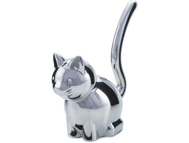 Porta anillos gatito de metal barata