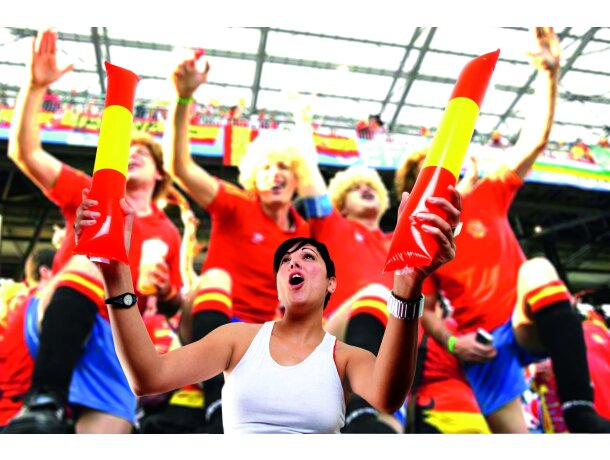 Palos aplauso bandera de España personalizado