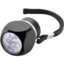 Linterna original con 6 luces led personalizada negra