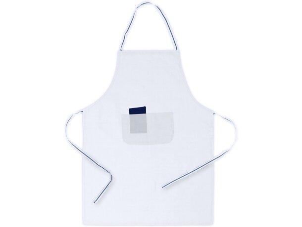 delantal de cocina con bolsillo largo personalizado blanco
