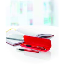 Estuche de bolígrafo y portaminas de aluminio personalizado