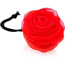 Bolsa plegable forma de rosa personalizada roja