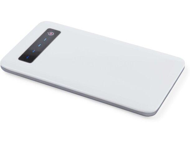 Batería portátil con 4000mah grabado blanca
