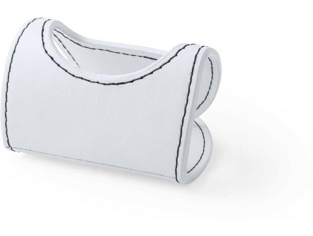 Soporte móvil de polipiel personalizado blanco