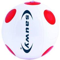 Balón de playa con dibujo de lunares personalizado