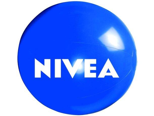 Balón de pvc 40 cm personalizado azul