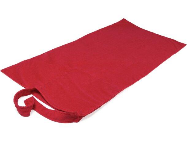 Bolsa con toalla roja