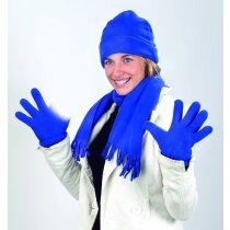 Set de gorro y bufanda polar azul