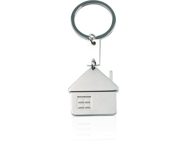 Llavero con diseño de casa personalizado