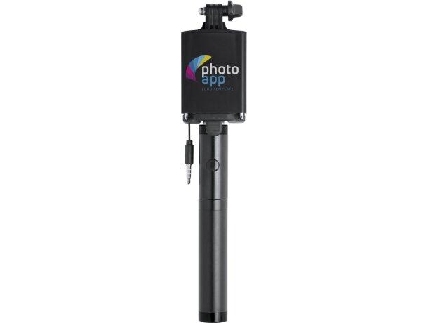 Palo selfie y power bank negro merchandising
