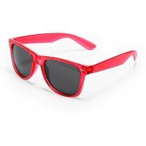 Gafas de sol de colores transparentes personalizada roja