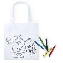 Bolsa de Navidad para colorear grabada