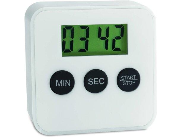 Temporizador de cocina digital personalizado blanco