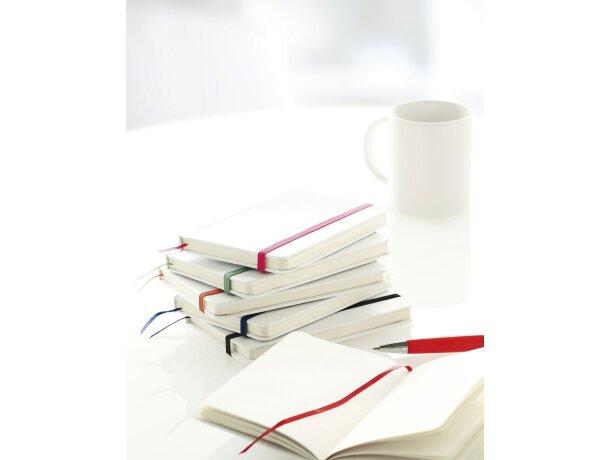 Bloc de notas con tapas blancas personalizado