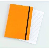 Bloc de notas con 80 hojas flexible naranja barato
