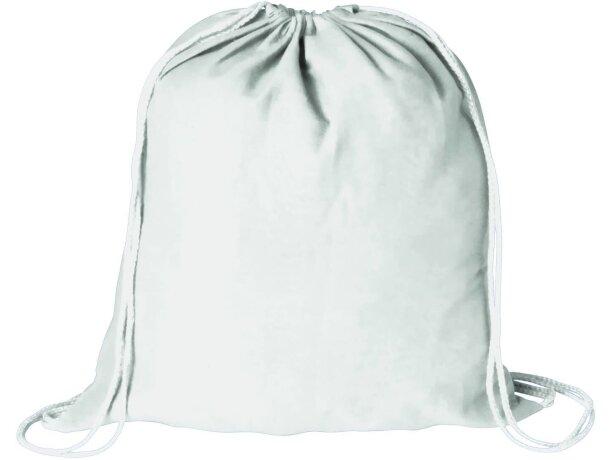 Mochila saco de gran capacidad con cuerdas personalizada blanca