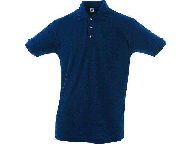 Polo manga corta tejido mixto de hombre 220 gr personalizado azul marino
