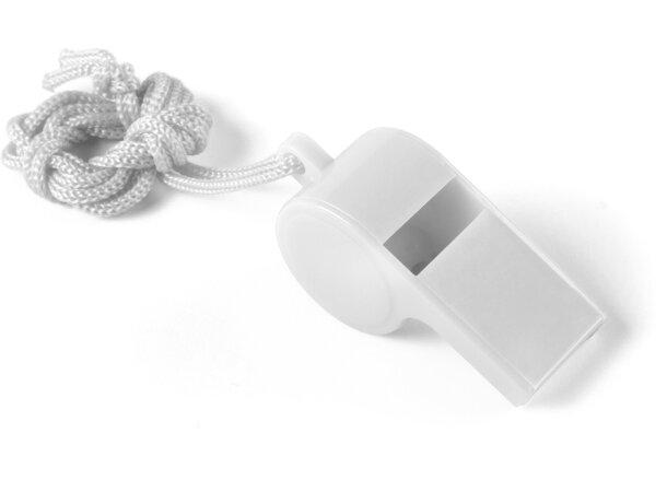 Silbato de colores personalizado blanco