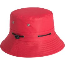 Gorro de colores con cordón ajustable personalizado rojo