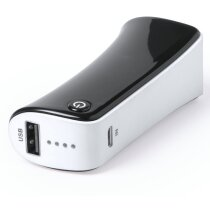 Power bank negro 2000 mAh personalizado blanco