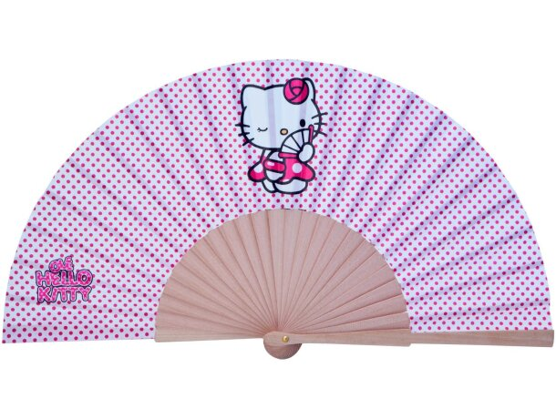 Abanico juvenil Hello Kitty personalizado