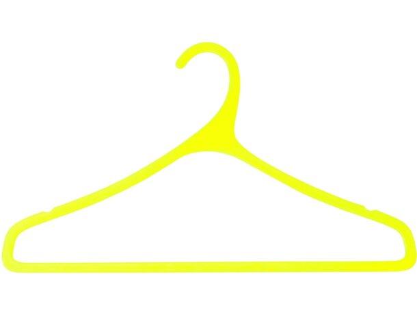 Percha para ropa en colores translúcidos personalizada