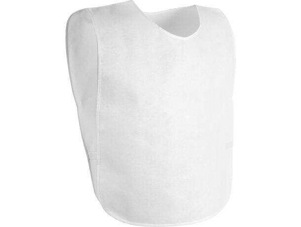 Peto deportivo  non-wowen grabado blanco