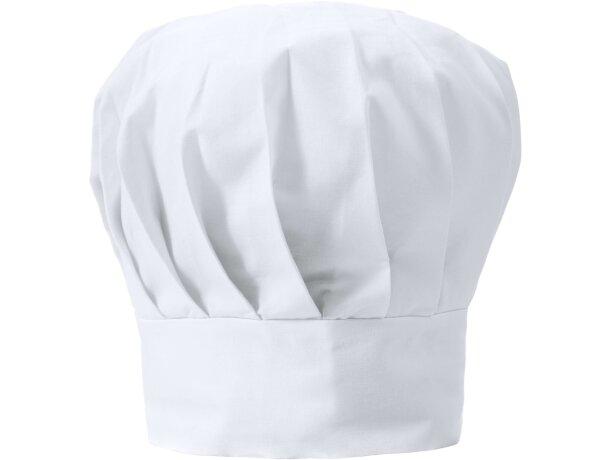 Gorro de poliester ajustable para cocinar blanco personalizado