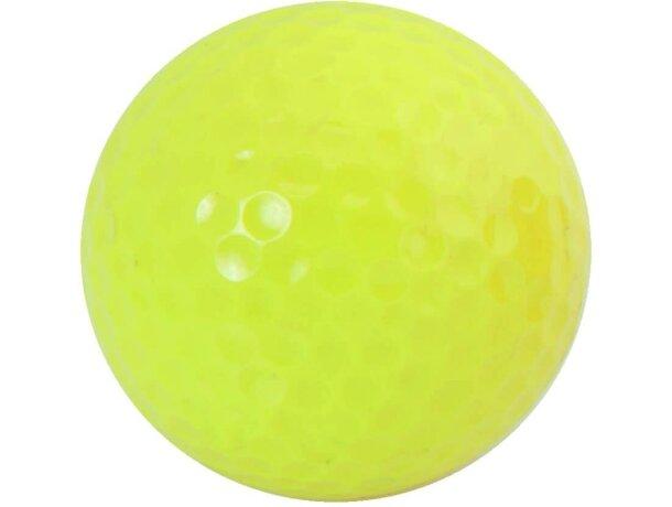 Bola de golf tres colores diferentes personalizada