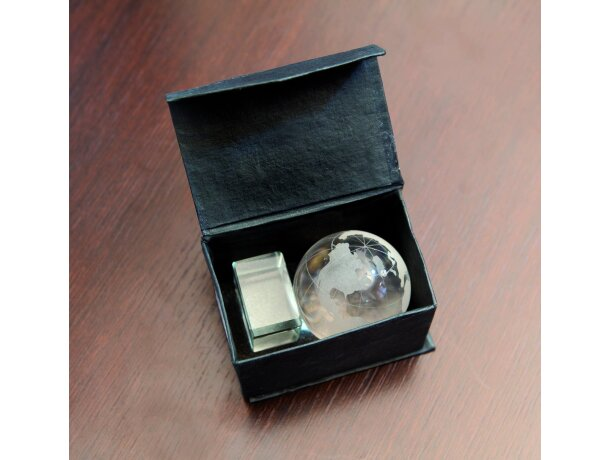 Bola del mundo de cristal personalizada