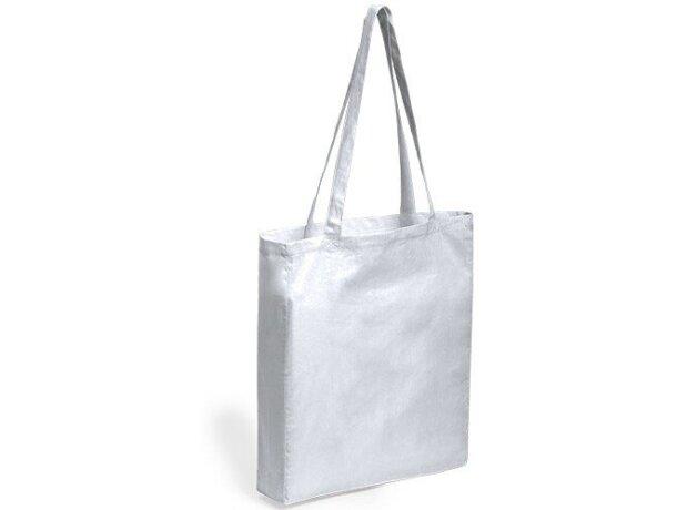 Bolsa de algodón asas grandes blanca
