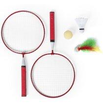 Set 3 en 1 de juegos raqueta personalizado rojo