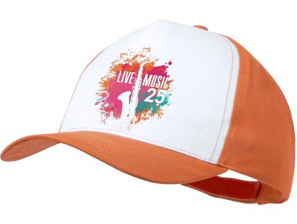 Gorra sencilla para imprimir a todo color naranja personalizada