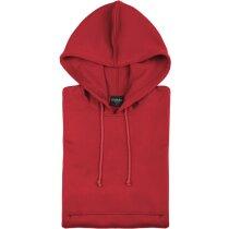 Sudadera de poliester con capucha roja