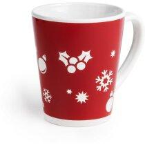 Taza decorara con motivos navideños personalizada