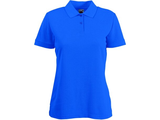 Polo manga corta de mujer tejido mixto 180 gr personalizado azul