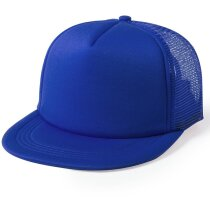 Gorra de poliéster con visera plana personalizada azul
