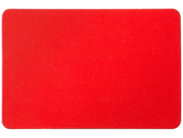 Imán de nevera rectangular personalizado rojo